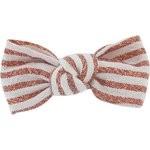Barrette petit noeud rayures cuivrées - PPMC