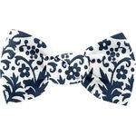 Small bow hair slide scandinave navy blue - PPMC