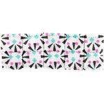 Small pleated hair slide neon shards - PPMC