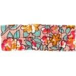 Petite barrette plissée floral pêche - PPMC