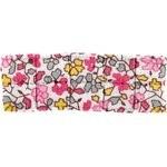 Petite barrette plissée jasmin rose - PPMC