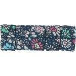 Petite barrette plissée milli fleurs vert azur - PPMC