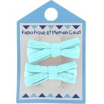 Small ribbons hair clips azur - PPMC