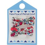 Small ribbons hair clips poppy - PPMC