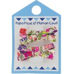 Small ribbons hair clips purple meadow - PPMC