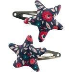 Star hair-clips camelias rubis - PPMC