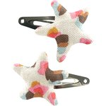 Star hair-clips watercolor confetti - PPMC