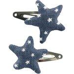 Barrettes clic-clac étoile etoile argent jean - PPMC