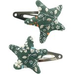 Star hair-clips fleuri kaki - PPMC