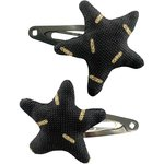 Star hair-clips golden straw - PPMC
