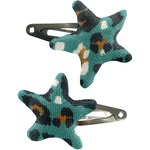 Star hair-clips jade panther - PPMC