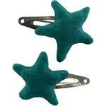 Star hair-clips emerald green - PPMC