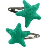 Barrette clic-clac étoile vert laurier - PPMC