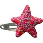 barrette clic-clac étoile crocus groseille - PPMC
