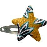 barrette clic-clac étoile etoile anisée - PPMC