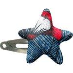 barrette clic-clac étoile  nuit fleurie - PPMC