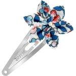 Barrette clic-clac fleur étoile london fleuri - PPMC
