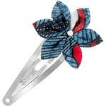 Star flower hairclip flowered night - PPMC
