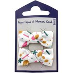 Small bows hair clips sea side - PPMC