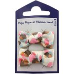 Small bows hair clips watercolor confetti - PPMC