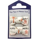 Small bows hair clips   copa-cabana - PPMC