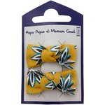 Small bows hair clips aniseed star - PPMC