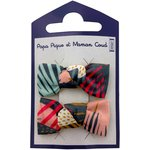 Small bows hair clips fireworks - PPMC