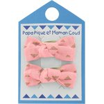 Small bows hair clips triangle or poudré - PPMC