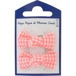 Small bows hair clips vichy peps - PPMC