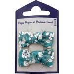 Small bows hair clips celadon violette - PPMC