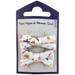 Small ribbons hair clips sea side - PPMC