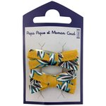 Small ribbons hair clips aniseed star - PPMC