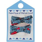 Small ribbons hair clips flowered night - PPMC