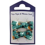 Small ribbons hair clips jade panther - PPMC