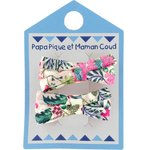 Small ribbons hair clips spring - PPMC