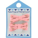 Small ribbons hair clips powdered gold triangle - PPMC