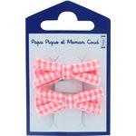 Small ribbons hair clips vichy peps - PPMC