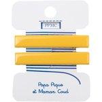 Barrette croco moyenne jaune cr038 - PPMC