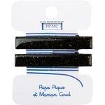 Medium-sized alligator hair clip: noir pailleté cr045 - PPMC