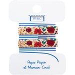 Petite barrette croco coquelicot - PPMC