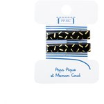Petite barrette croco paille doré noir cr033 - PPMC