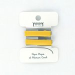 Petite barrette croco jaune cr038 - PPMC