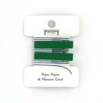 Petite barrette croco vert vif cr039 - PPMC