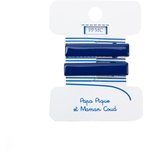 Petite barrette croco bleu navy cr040 - PPMC