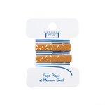 Petite barrette croco paille doré caramel cr042 - PPMC