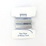 Petite barrette croco argenté cr046 - PPMC