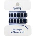 Petite barrette croco silver dark blue stripes cr053 - PPMC