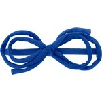Barrette noeud arabesque bleu navy - PPMC