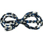 Arabesque bow hair slide parts blue night - PPMC