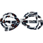 Arabesque bow hair slide black-headed gulls - PPMC